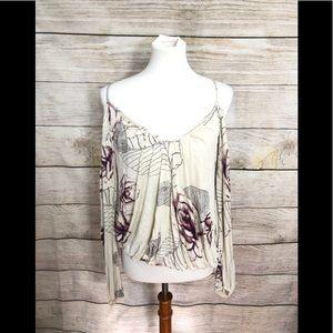Free people boho cold shoulder blouse